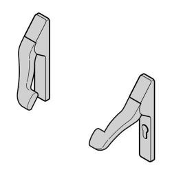 Элемент открывающего механизма с шарнирным рычагом и накладкой