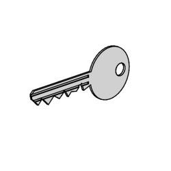 Ключ-дубликат для профильного цилиндра KSi