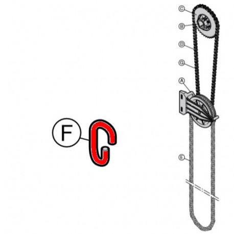 Соединительное звено для круглой стальной цепи A5 Hormann